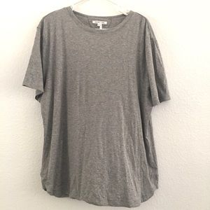 Helmut Lang Gray Basic Short Sleeve Tee XL